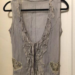 Lace Gray Vest